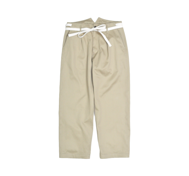 SIDE TAPE WIDE TROUSERS